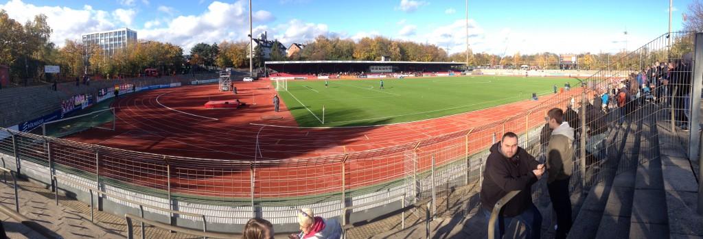 Panorama foto van het Südstadion