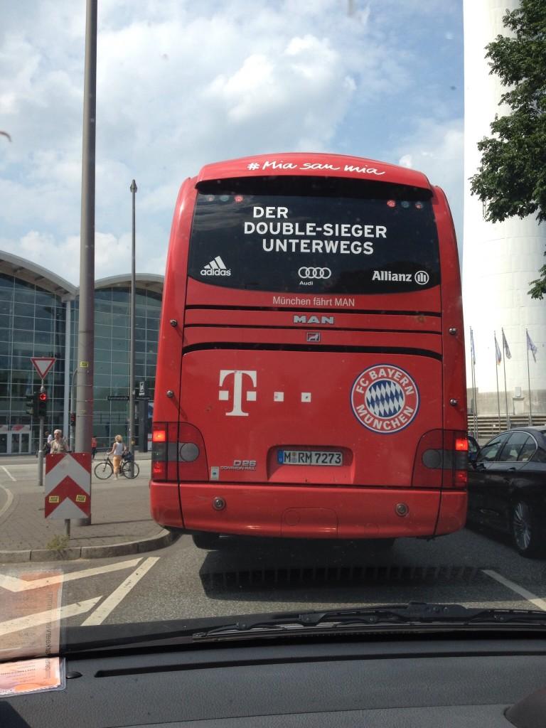 Spelersbus Bayern Munchen